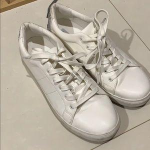 steve madden white smiley sneakers